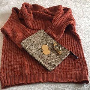 Rust cowl neck sweater